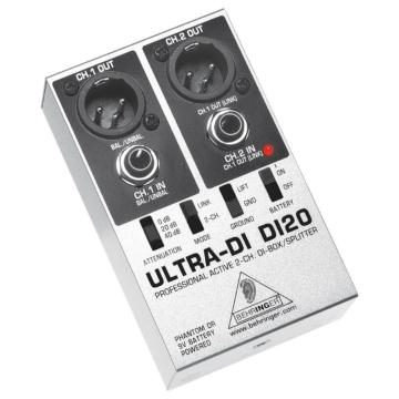 Behringer - DI 20 Ultra, 2 csatornás aktív DI box/splitter