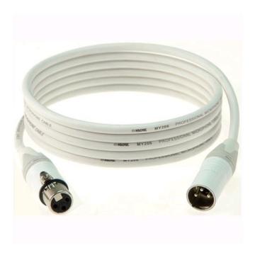 Klotz - IceRock mikrofonkábel, 5 m fehér színű Neutrik XLR3M - XLR3F csatlakozók, + fehér MY206 kábel