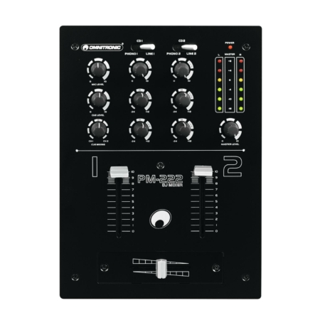 OMNITRONIC - PM-222 2-Channel DJ Mixer