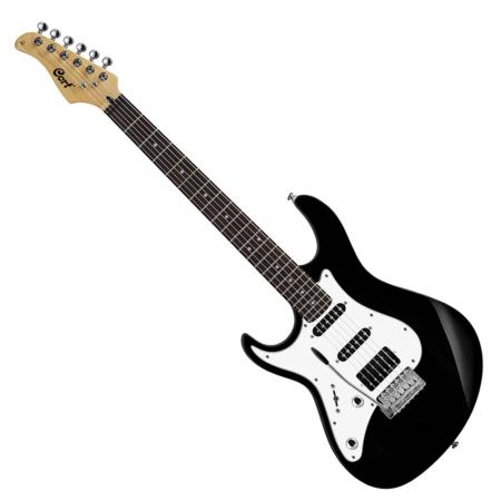 Cort - G250LH-BK balkezes elektromos gitár fekete, szemből