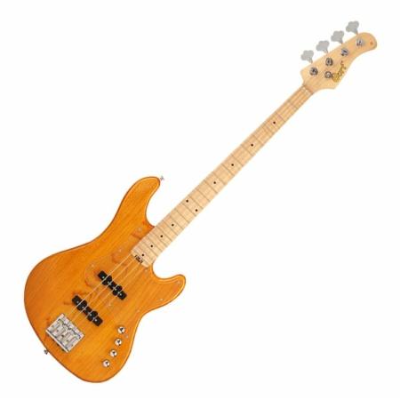 Cort - GB74JJ-AM elektromos basszusgitár borostyán