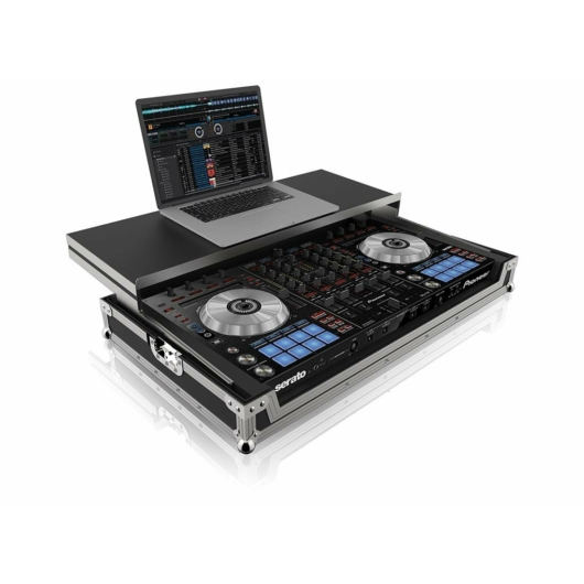 PEP - Flightcase FC-SX Pioneer DDJ-SX kontrollerhez laptoptálcával