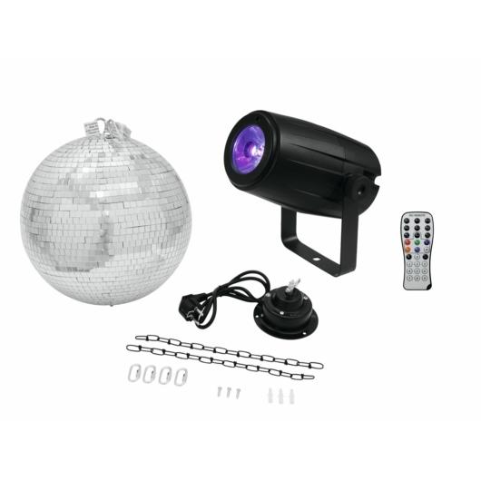 EUROLITE - Mirror Ball 30cm with motor + LED PST-5 QCL Spot bk
