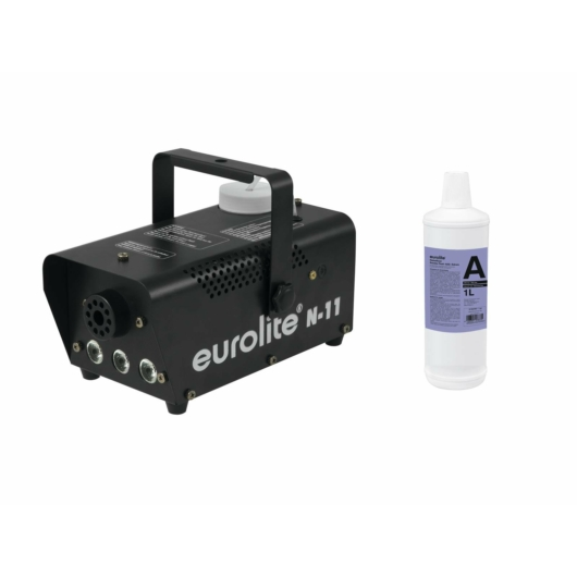 EUROLITE - Set N-11 LED Hybrid amber fog machine + A2D Action smoke fluid 1l