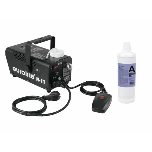 EUROLITE - Set N-11 LED Hybrid blue fog machine + A2D Action smoke fluid 1l