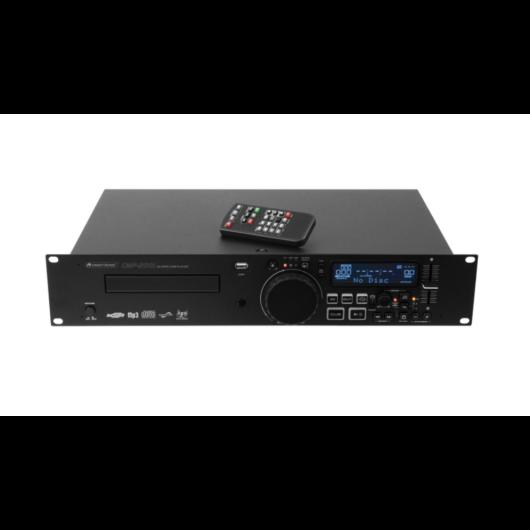 Omnitronic - CMP-2001 Single CD/MP3 player szemből távirányítóval