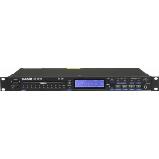 Tascam - CD-500B Professzionális CD lejátszó, szemből