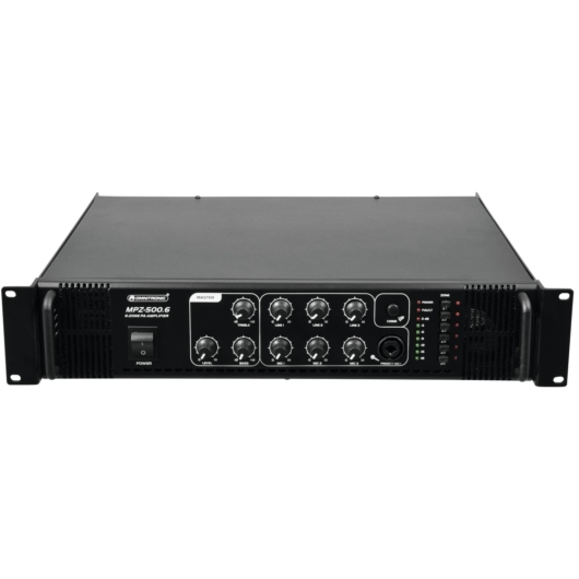 Omnitronic - MPZ-500.6 PA Mixing Amplifier, szemből