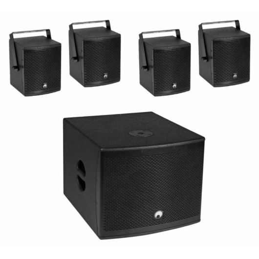 OMNITRONIC - Set MOLLY-12A Subwoofer active + 4x MOLLY-6 Top 8 Ohm, black