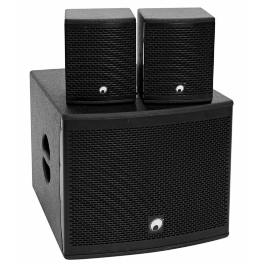OMNITRONIC - Set MOLLY-12A Subwoofer active + 2x MOLLY-6 Top 8 Ohm, black