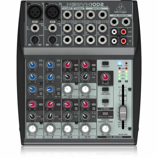 Behringer - XENYX 1002 10 bemenetes 2 buszos mixer mikrofon előerősítővel