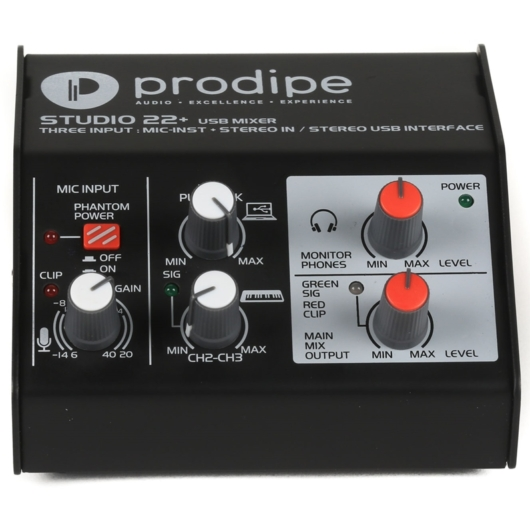 Prodipe - Studio 22+ keverőpult USB-s hangkártya