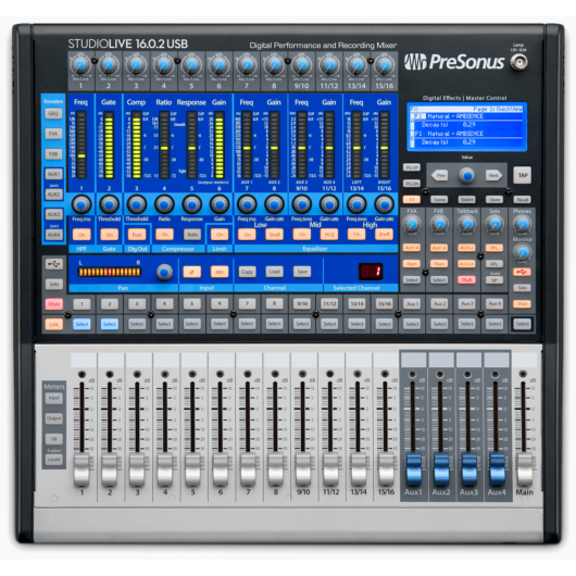 PreSonus - StudioLive 16.0.2 USB, szemből