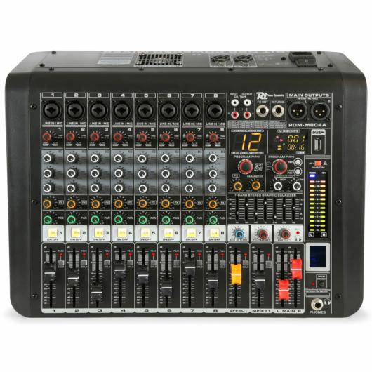 Power Dynamics - PDM-M804A 8 Csatornás zenekari keverőerősítő