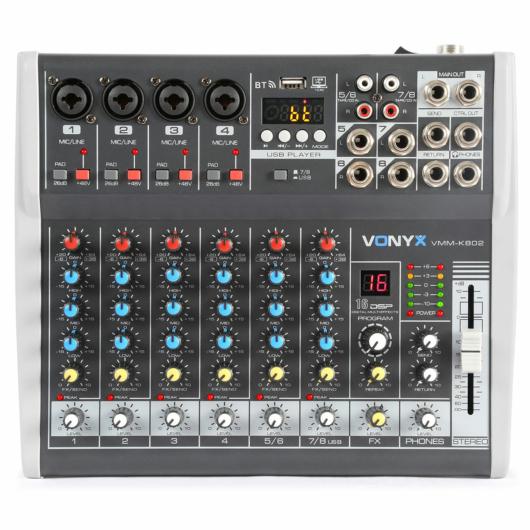 Vonyx - VMM-K802 8 Csatornás zenekari keverő