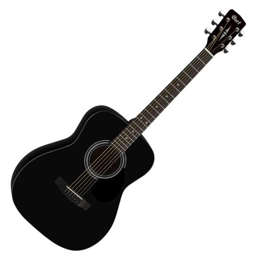 Cort - Co-AF510-BKS akusztikus folkgitár matt fekete