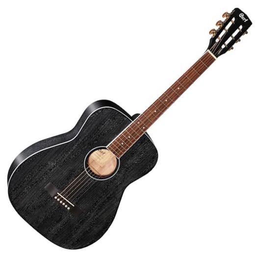 Cort akusztikus folkgitár elektronikával, fekete