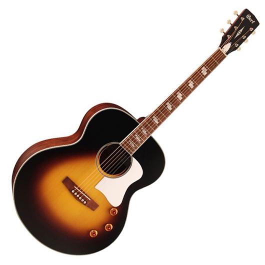 Cort akusztikus gitár elektronikával, sunburst