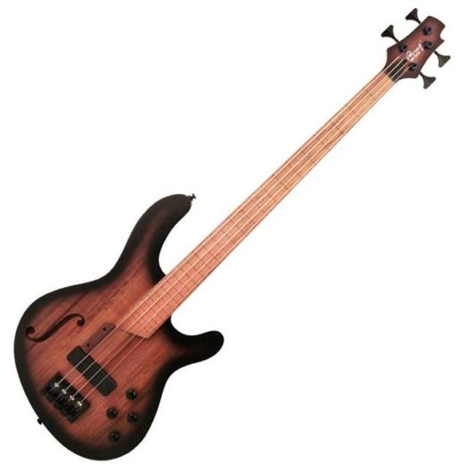 Cort - B4FL MHPZ OPTA  4húros elektromos basszusgitár fekete burst