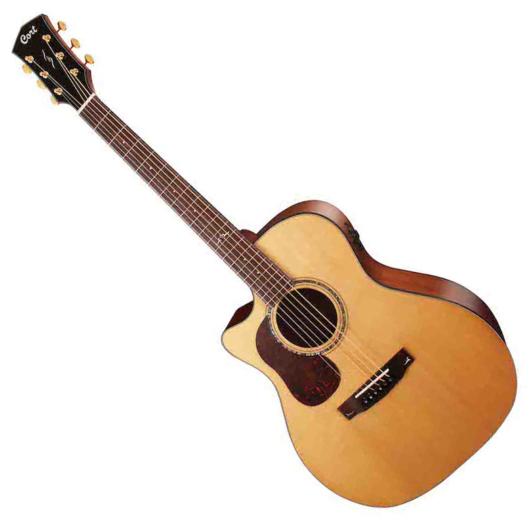 Cort - Gold-A6 LH with case akusztikus gitár All solid balkezes