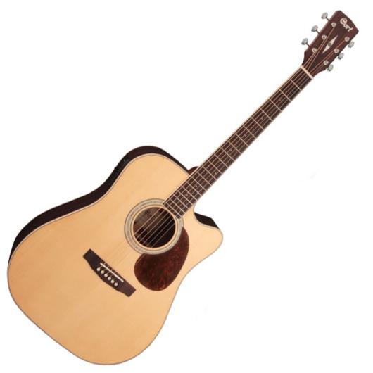 Cort akusztikus gitár Fishman el-val, matt natúr