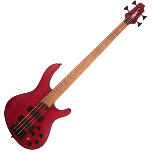 Cort el.basszusgitár, Markbass Preamp, piros