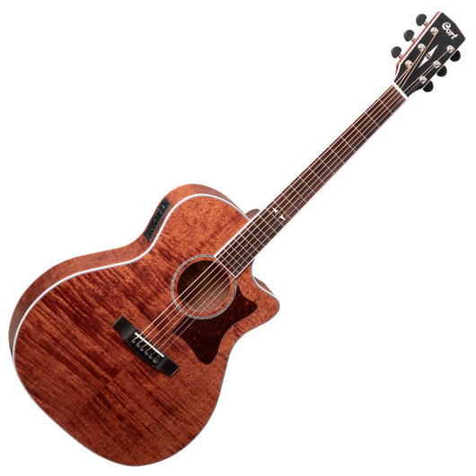 Cort akusztikus gitár Fishman EQ, mahagóni, natúr