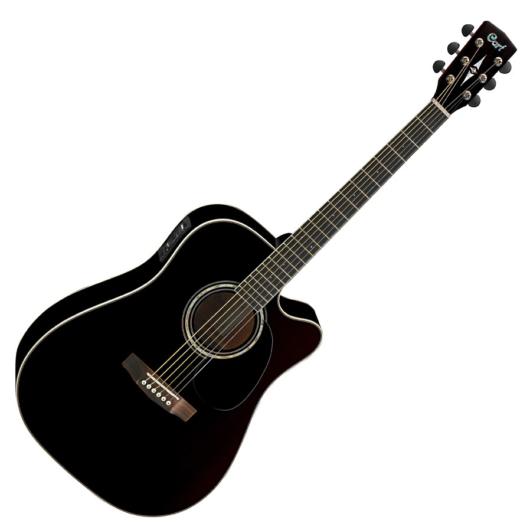 Cort akusztikus gitár Fishman el-val, fekete