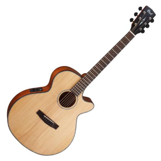 Cort akusztikus gitár elektronikával, matt natúr