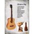 Kép 5/7 - Cort akusztikus mini gitár, matt natúr, tokkal