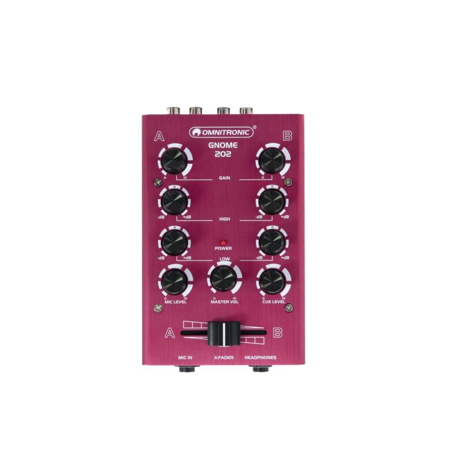 OMNITRONIC - GNOME-202 Mini Mixer red