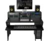 Zomo - Studio Desk Milano fekete, eszközökkel