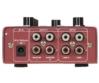 OMNITRONIC - GNOME-202P Mini Mixer red csatlakozók