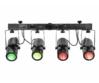 EUROLITE - LED QDF-Bar RGBAW Light Set, működik
