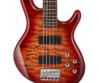 Cort - ActionDLXV Plus-CRS 5 húros elektromos basszusgitár cherry sunburst, fedlap