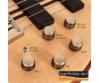 Cort - A6Plus-OPN Artisan 6 húros elektromos basszusgitár matt natúr, potméterek