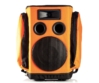 Partybag - 6 Orange with speaker stand insert, szemből