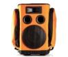 Partybag - 6 Orange with speaker stand insert, szemből