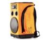 Partybag - 6 Orange with speaker stand insert, oldalról
