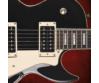 Cort - CR230-BK elektromos gitár fekete ajándék félkemény tok